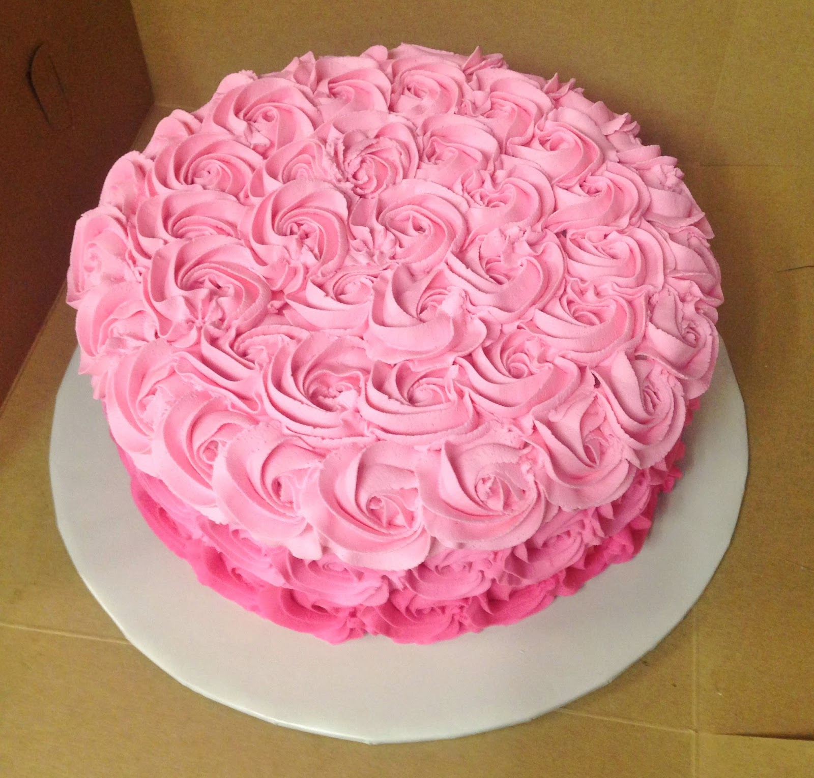 Pink Rosette Cake Images : Cakes by Mindy: Pink Ombre Rosette Cake 10
