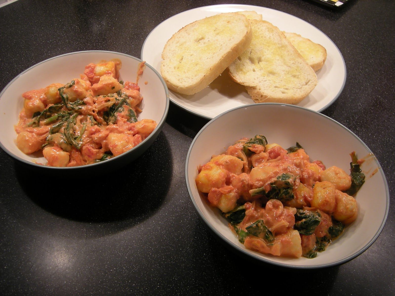 The Zippicurean: Gnocchi Baked with Spinach in Goat Cheese ...