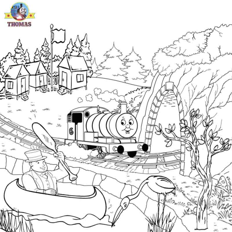 Thomas Coloring Pictures Pages