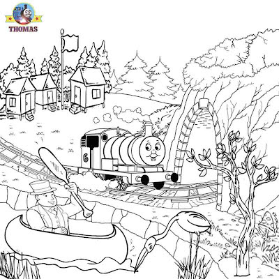 Percy the tank engine Thomas the train coloring pictures pages to print and color in kids activities