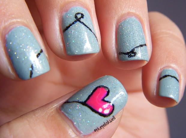polish nail ideas heart