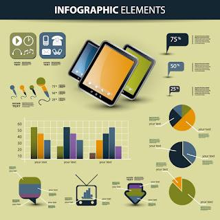 IT関連のインフォグラフィックス テーマ Data report イラスト素材