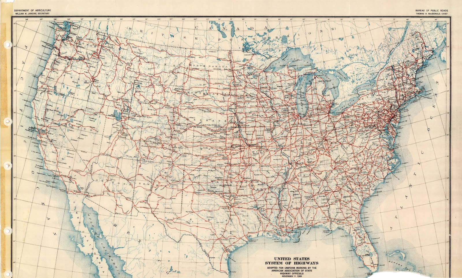 us highway map 1926