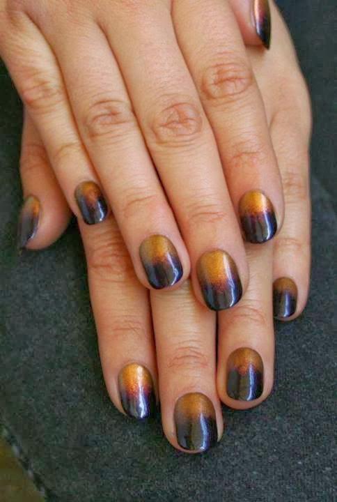 custom metallic gel mix natural nails black with burnished gold reverse LED-polish-manicure-OPI-Nail-Polish-Lacquer-Pedicure-care-natural-healthcare-Gel-Nail-Polish-beauty-Acrylic-Nails-Nail-Art-USA-UK