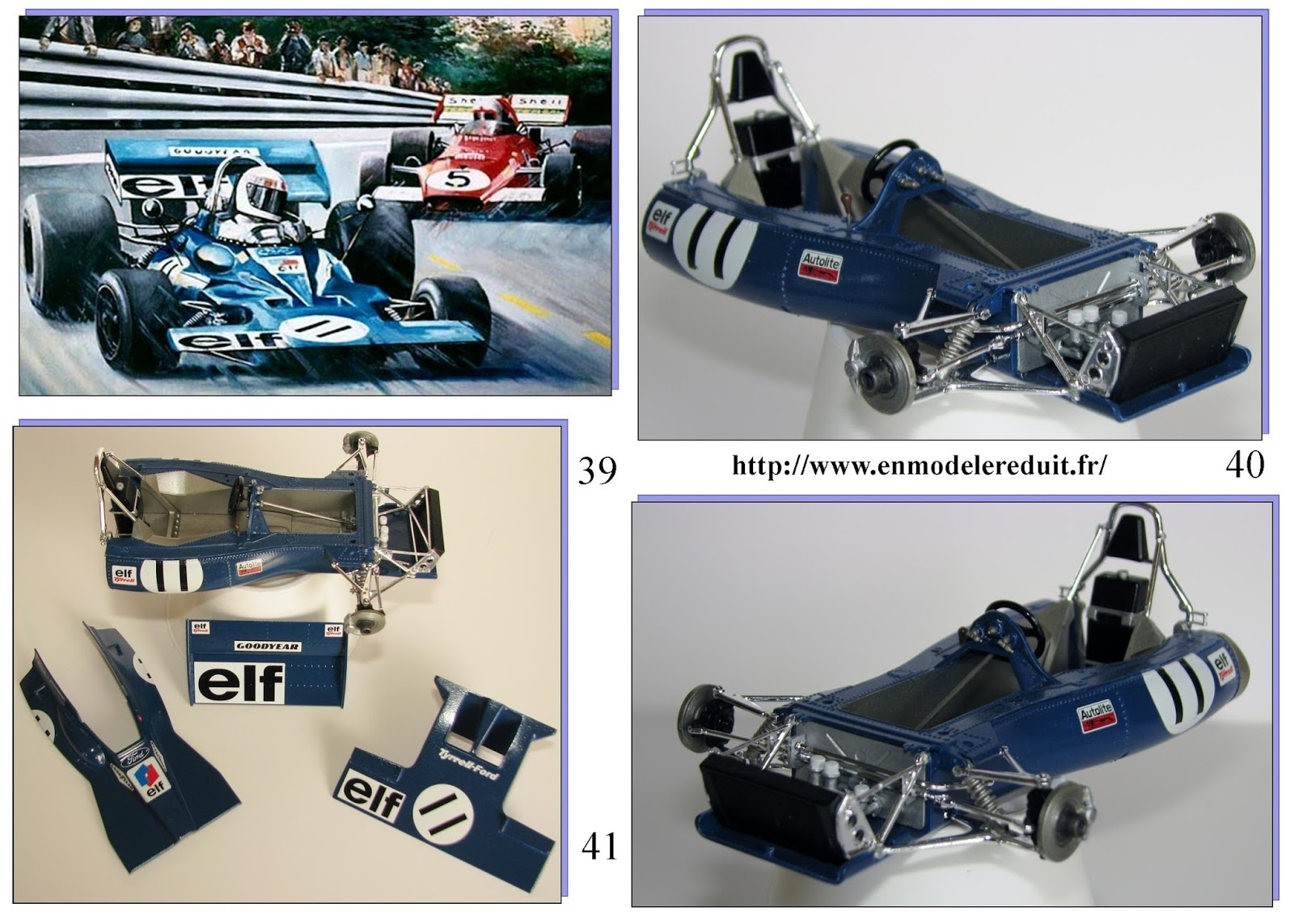 en mod le r duit tyrrell 003 1971 version gp de monaco. Black Bedroom Furniture Sets. Home Design Ideas