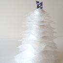 DIY sapin de Noël enneigé