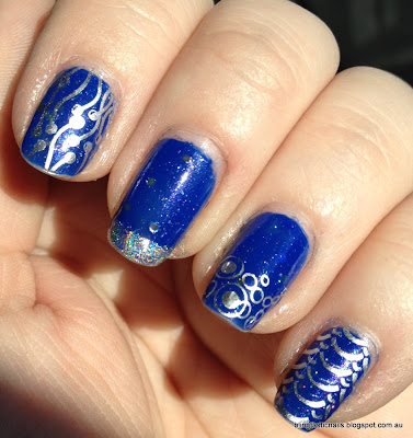 Ulta3 Blue Marlin with China Glaze Millennium stamping