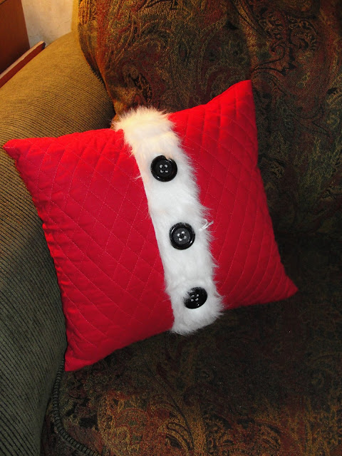 santa's coat pillow