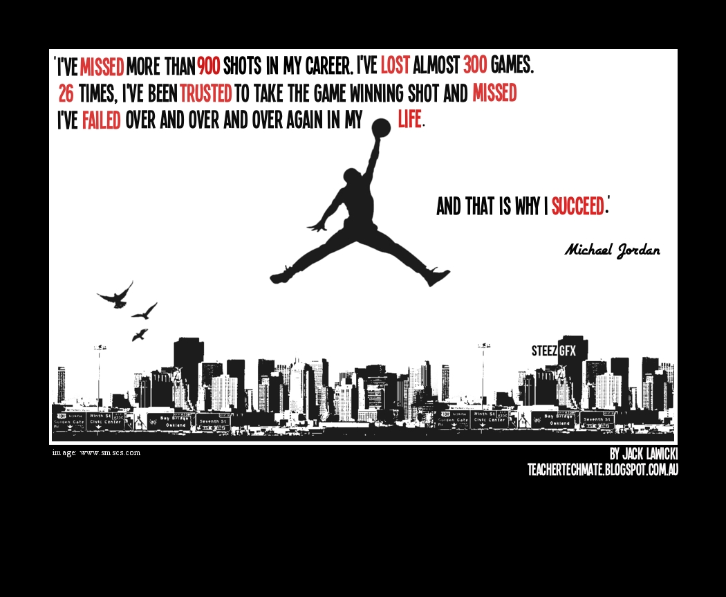 Quotes By Michael Jordan Learn To Teach Code Michael Jordan Failure Poster In My Classroom