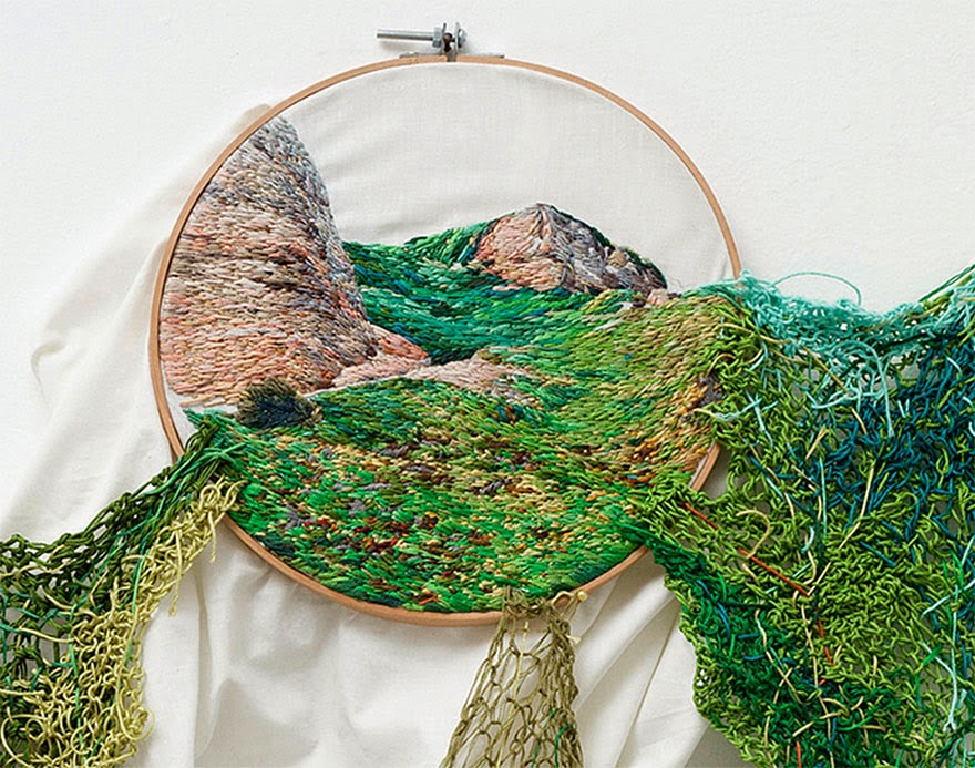 Simply Creative Embroidered Landscapes By Ana Teresa Barboza