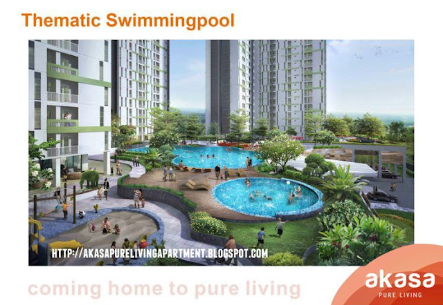 Thematic Swimming Pool Akasa Pure Living BSD