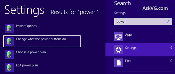 mengganti setting power di windows 8 / 8.1