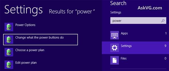 mengganti setting power di windows 8 / 8.1
