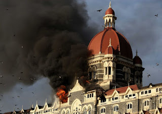 Taj Hotel in Mumbai during the terror attack