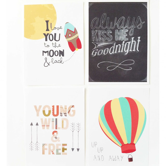 hot air balloon and chalkboard printables
