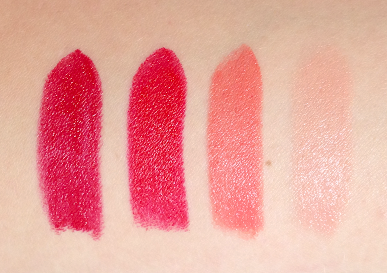 Cover Girl LipPerfection Lipcolor Seduce, Hot, Sweet, Creme review swatches