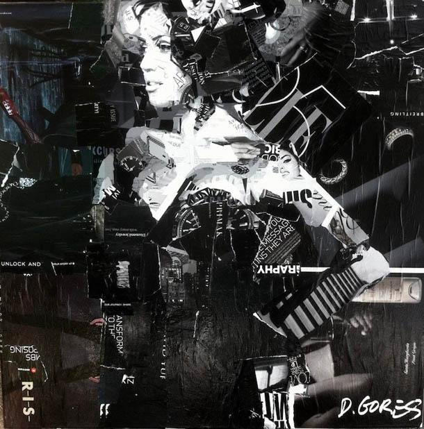 Colagens expressionistas - Derek Gores