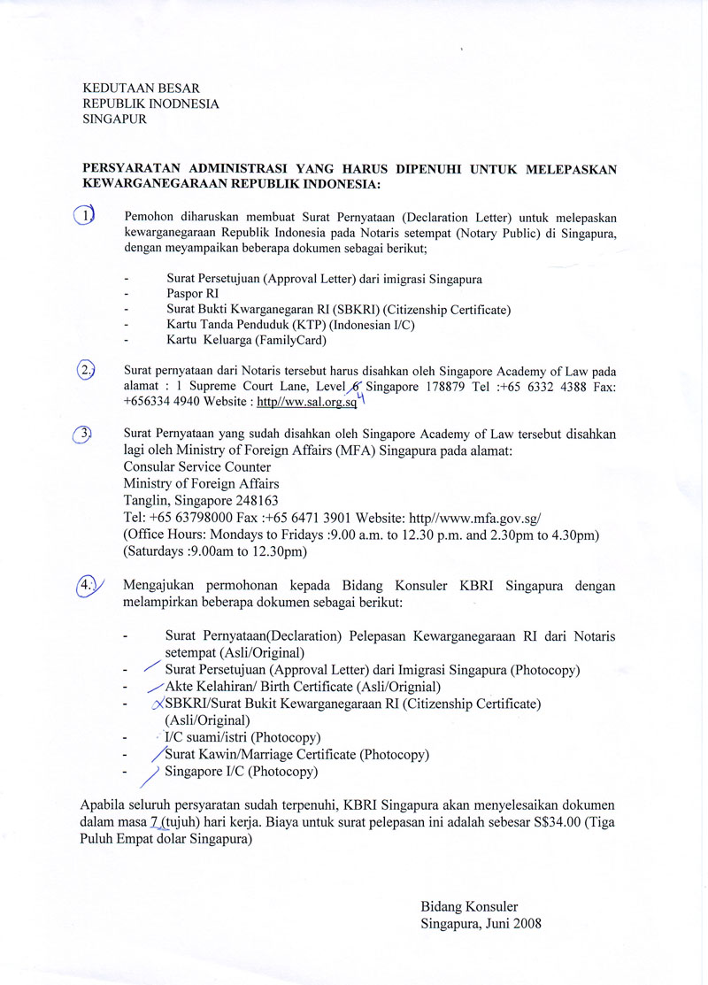Sis recommends this and that how to renounce indonesian letter from notary public that you want to renounce your indonesian citizenship includes ica approval letter passport indonesian birth cert aiddatafo Choice Image