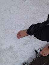 Barefoot Running in Snow