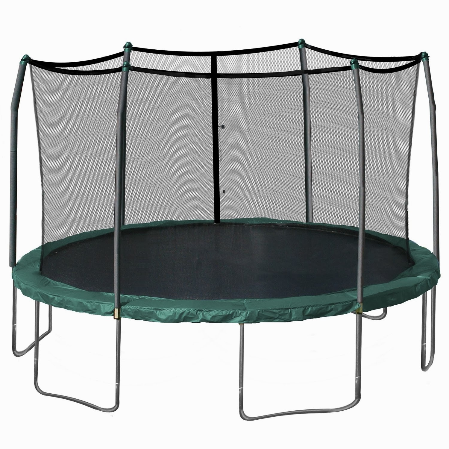 Skywalker Trampolines 15-Feet Round Trampoline and Enclosure with Spring Pad Image