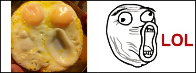 LOL Face Eggs funny pics
