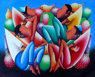 Pinturas Modernas Africanas Hombres Mujeres