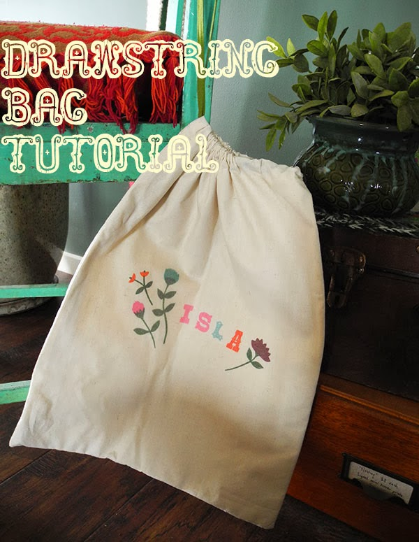 Jules Madden: Tutorial: Lined Drawstring Bag