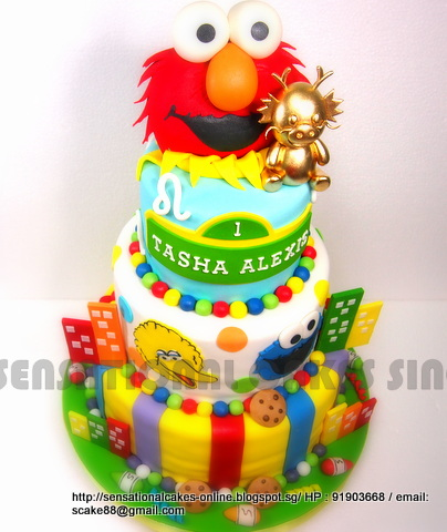 The Sensational Cakes Elmo Cake Singapore Big Bird Cake