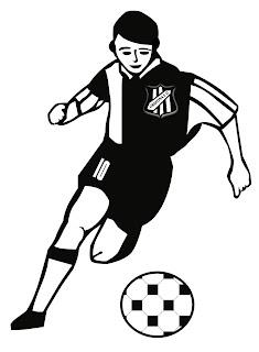 Desenho como desenhar Jogadores e goleiro com bola em campo pintar e colorir
