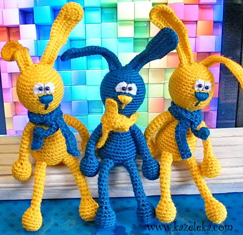 вязаные зайцы - crochet rabbit