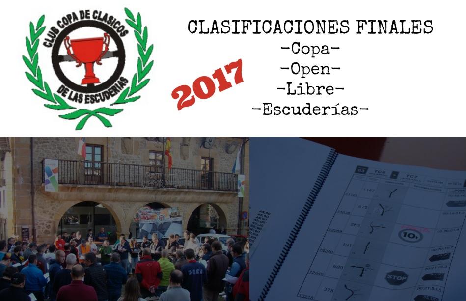 Clasificaciones finales 2017