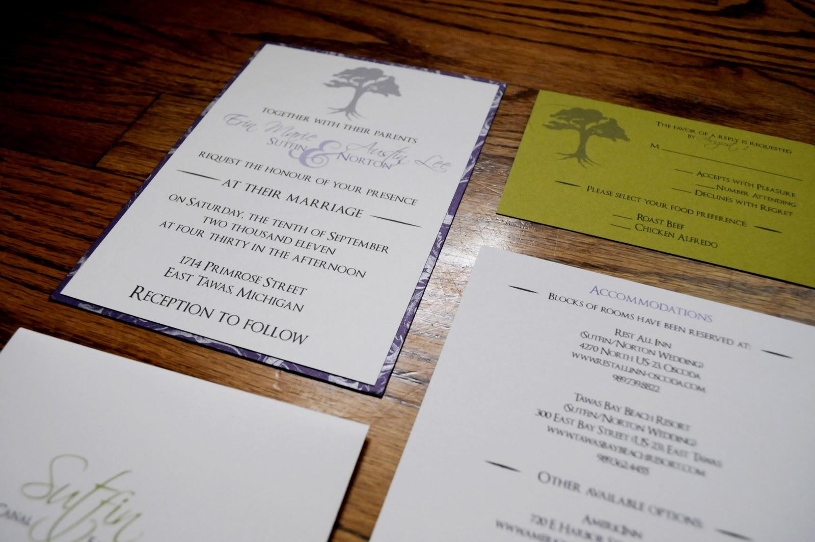 Vivian Elle Invitations: Erin and Austin\'s Wedding Programs