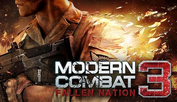 Modern Combat 3 Games android apk file free download, latest update of android getting modern combat 3