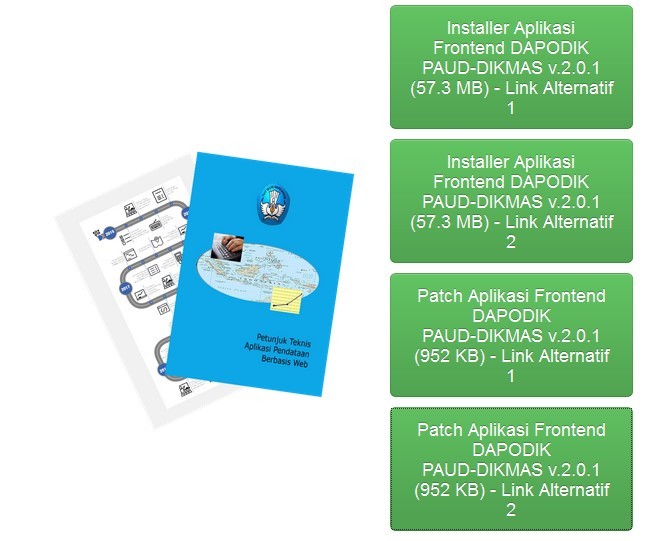 Aplikasi Dapodik PAUD-DIKMAS Versi 2.0.1 (Installer dan Patch)