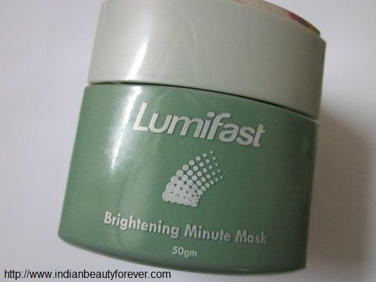 Cosmedic Lumi fast brightening Minute mask