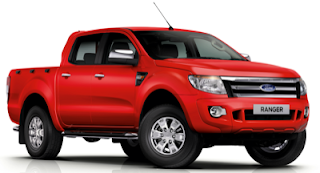 2013 Ford Ranger Red Crew Cab