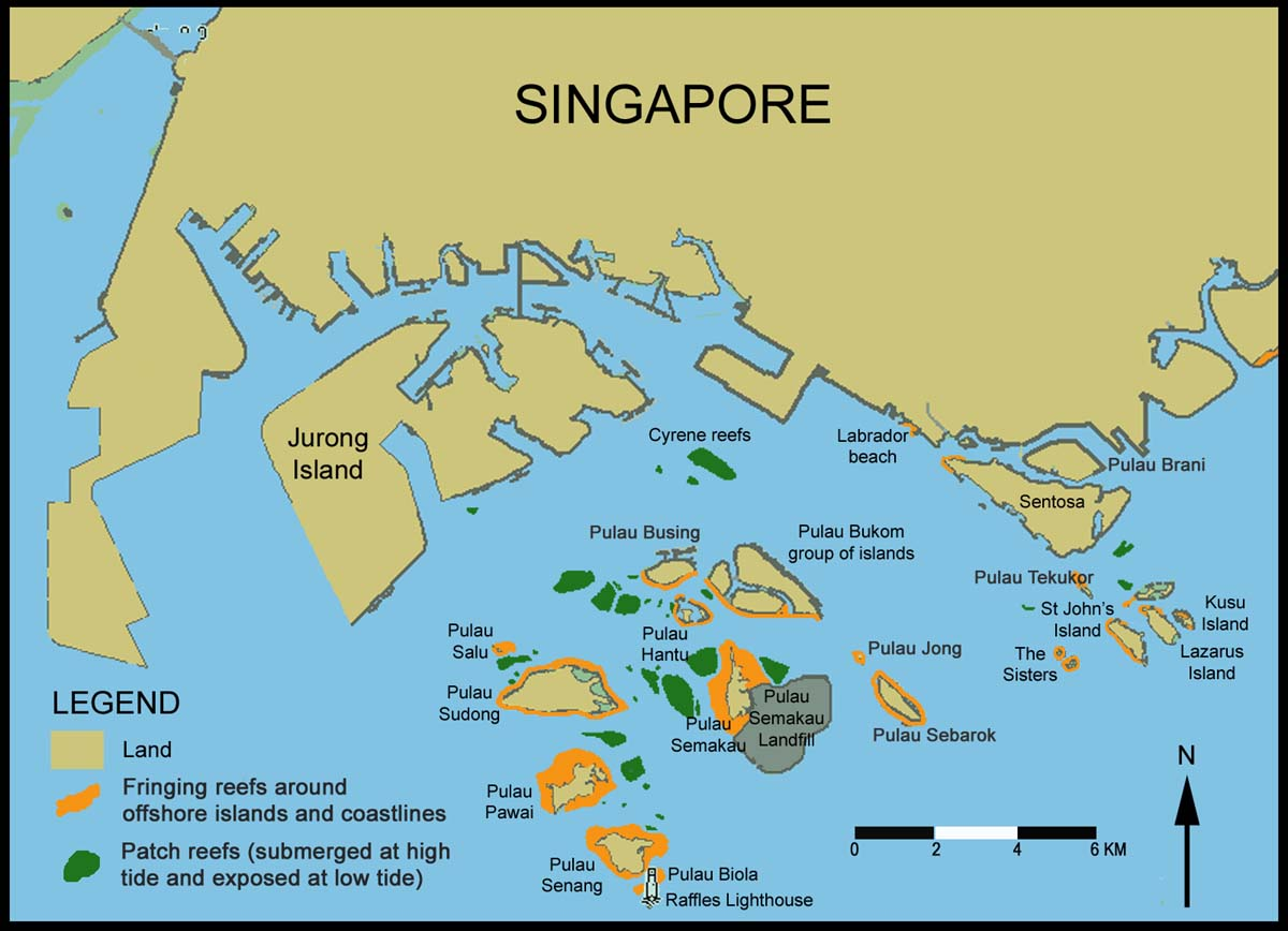 more islands other than sentosa kusu and ubin or tekong
