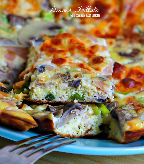 Delicious and simple Dinner Frittata with vegetables