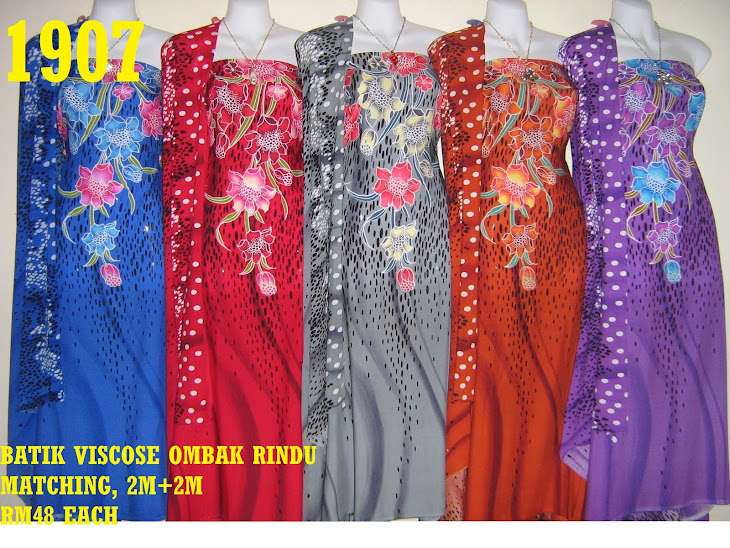 BVM 1907: BATIK VISCOSE OMBAK RINDU MATCHING, EXCLUSIVE DESIGN, 2M+2M, 5 COLORS