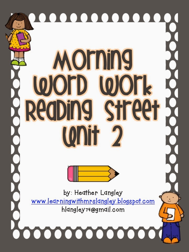 http://www.teacherspayteachers.com/Product/Reading-Street-Morning-Word-Work-UNIT-2-FIRST-GRADE-968601