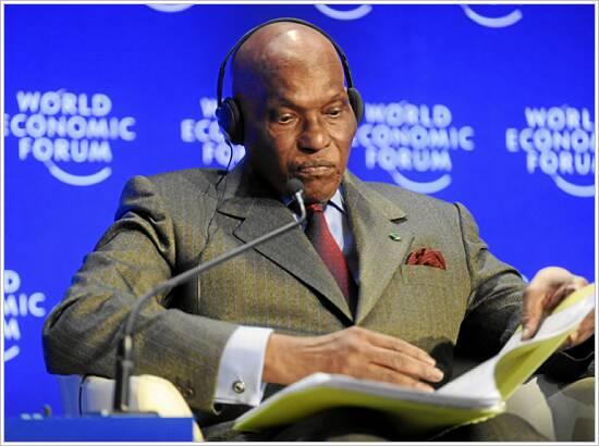 Abdoulaye Wade presidente de Senegal desde abril 1ro, 2000