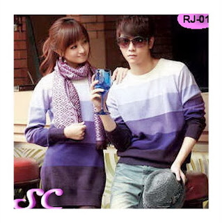 baju rajutan violet couple