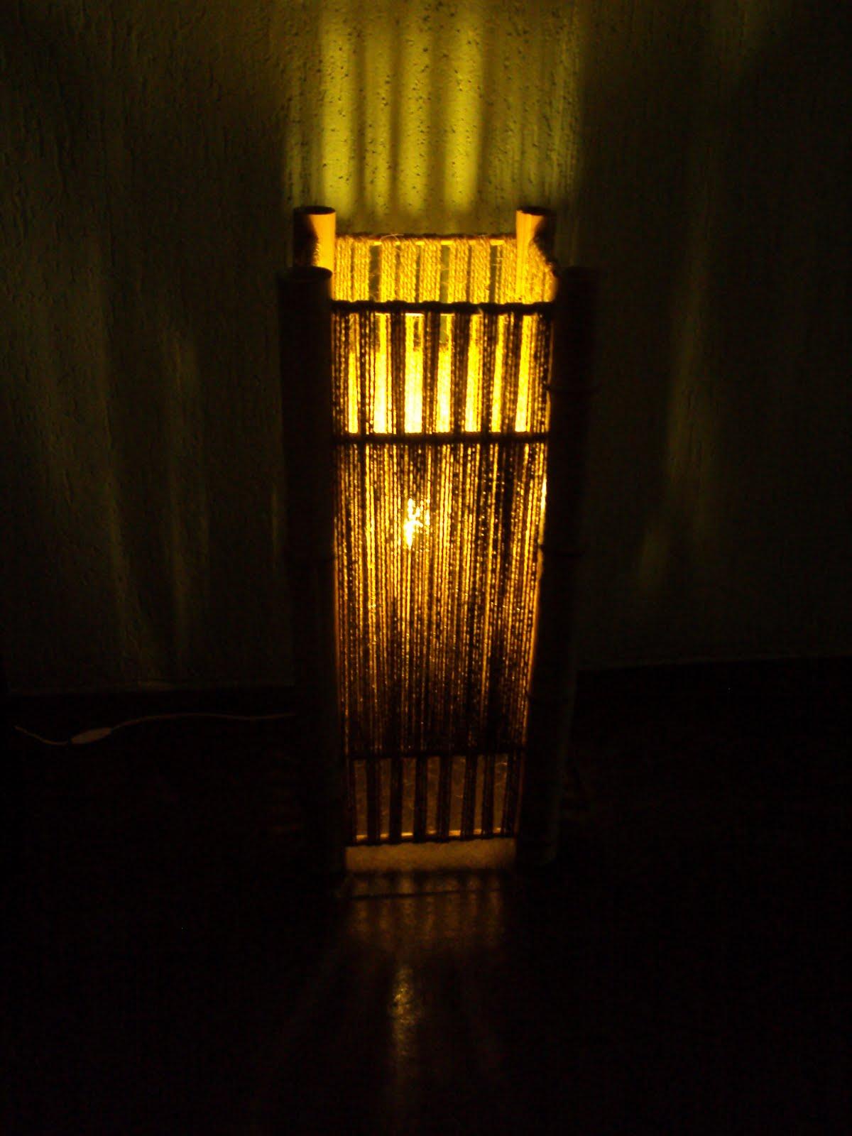 Artesanato Em Florianopolis Sc ~ Luminessence Luminárias Artesanais Luminária de bambu e sisal
