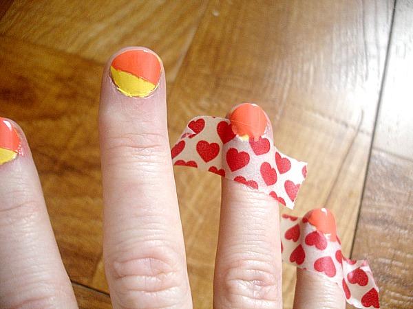 DIY Tri-Color Block ManicureSeven Alive