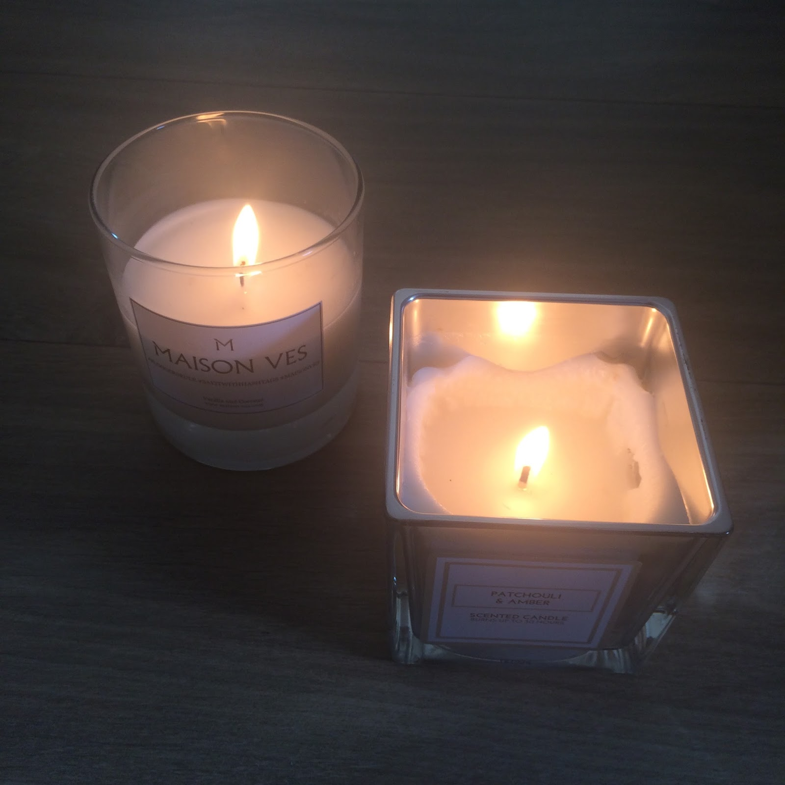 Maison ves primark candles scented coconut vanilla patchouli amber sexy man