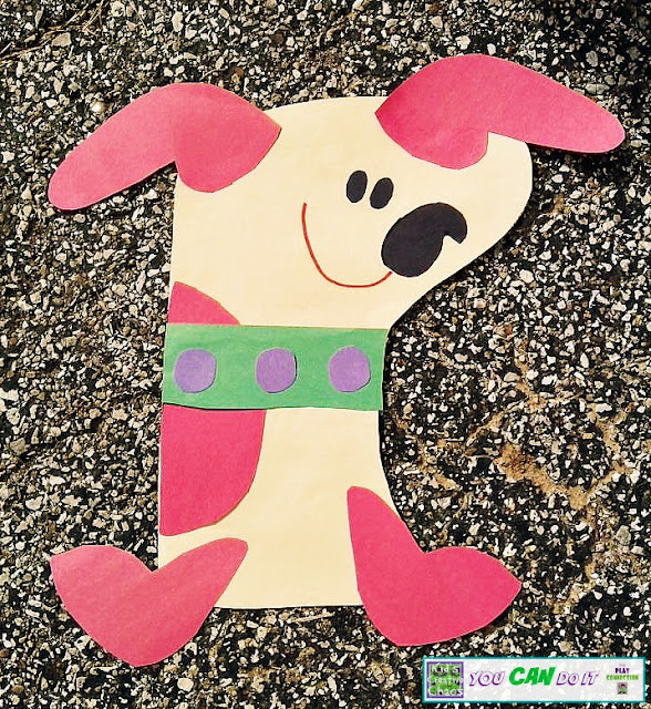 Make a Puppy Paper Stocking