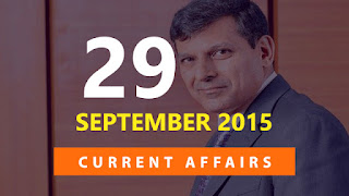 Current Affairs 29 September 2015