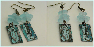limpet shell seahorse earrings