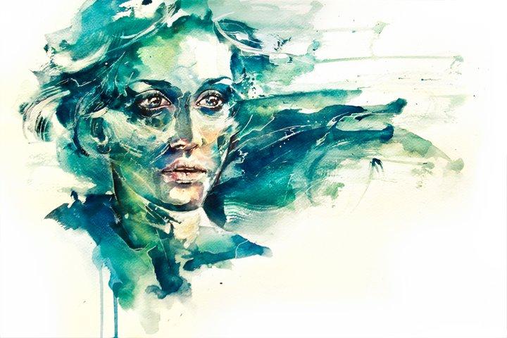 Agnes Cecile 1991 | Italian Watercolor painter