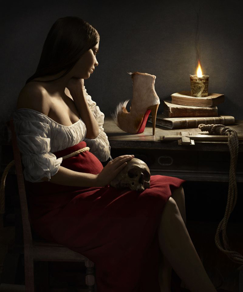 Georges de la Tour Magdalene and the Flame campaña Christian Louboutin